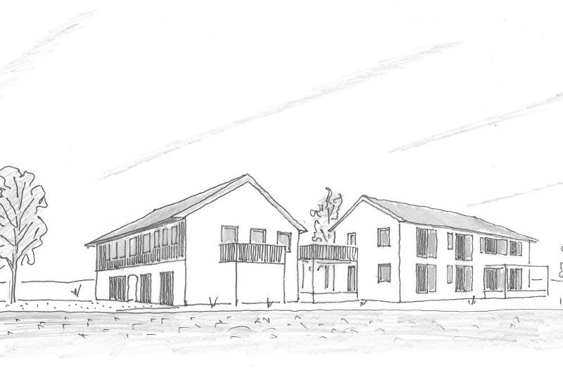 Architektur Mehrparteienhaus